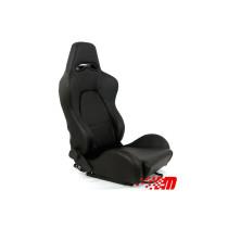 Sport, verseny ülés DRAGO PVC Fekete